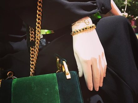 GREEN LOVERS  @prada @lahola.jewelry #newin #lahola #style #styleblogger #styleinspiration #fashi…