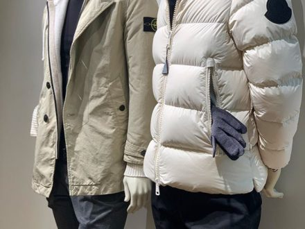 Perfekt combinations for the colder days. Beautiful white and beige jackets from @moncler and @st…
