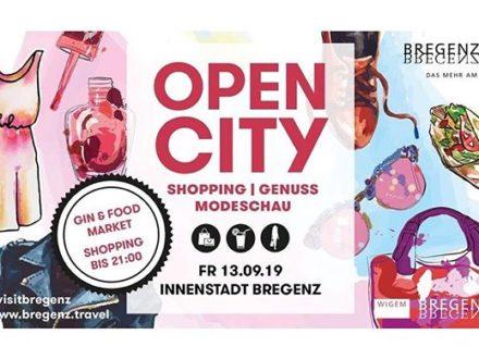 Wir freuen uns am Freitag auf eine #opencitybregenz! Neben einer tollen Modenschau, einem Gin&Foo…