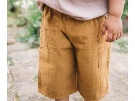 Diese Culotte aus Baumwollmuslin ist so super soft und das Beste… cool für Jungs und Mädchen …