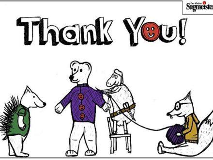 Danke!  Danke kann man in den letzten Tagen gar nicht oft genug sagen! Es ist so ein kleines und …